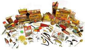 SUBSTANTIAL COLLECTION OF VINTAGE FISHING LURES
