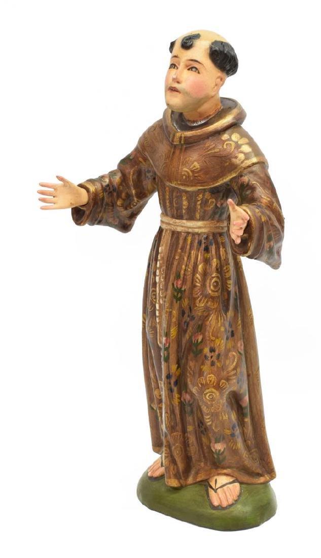 "RELIGIOUS SAINT FRANCIS SANTO ALTAR FIGURE, 16""H"