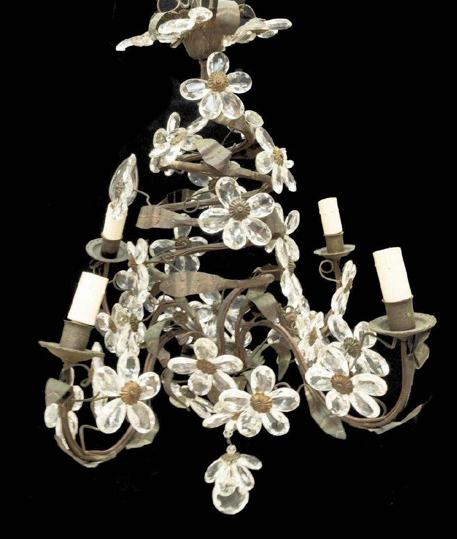 FRENCH CRYSTAL CHANDELIER AFTER MAISON BAGUES