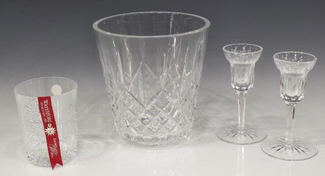 (4) COLLECTION WATERFORD CRYSTAL STEMWARE, BARWARE