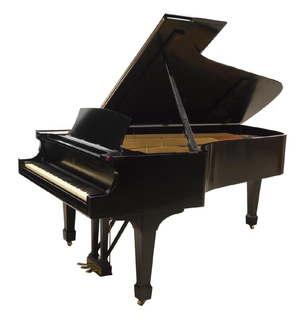 "STEINWAY & SONS 6'10.5"" EBONIZED GRAND MODEL B PIANO"