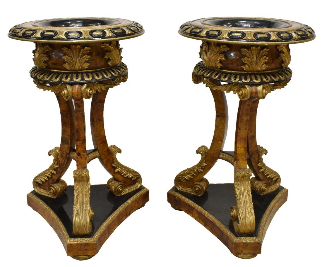(PAIR) JARDINIERE STANDS MANNER OF MAITLAND-SMITH