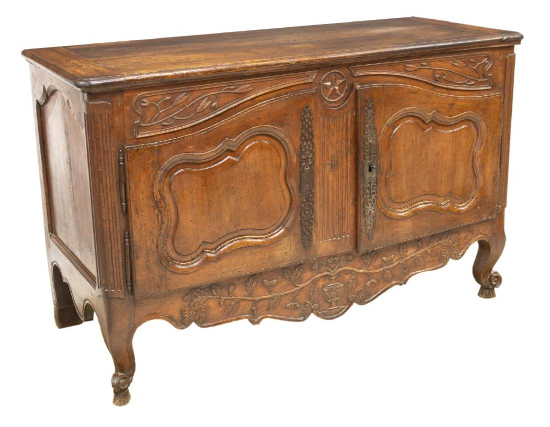 FRENCH LOUIS XV STYLE WALNUT SIDEBOARD, 18TH C.