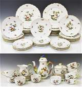66 HEREND ROTHSCHILD BIRD DINNER  TEA SERVICE