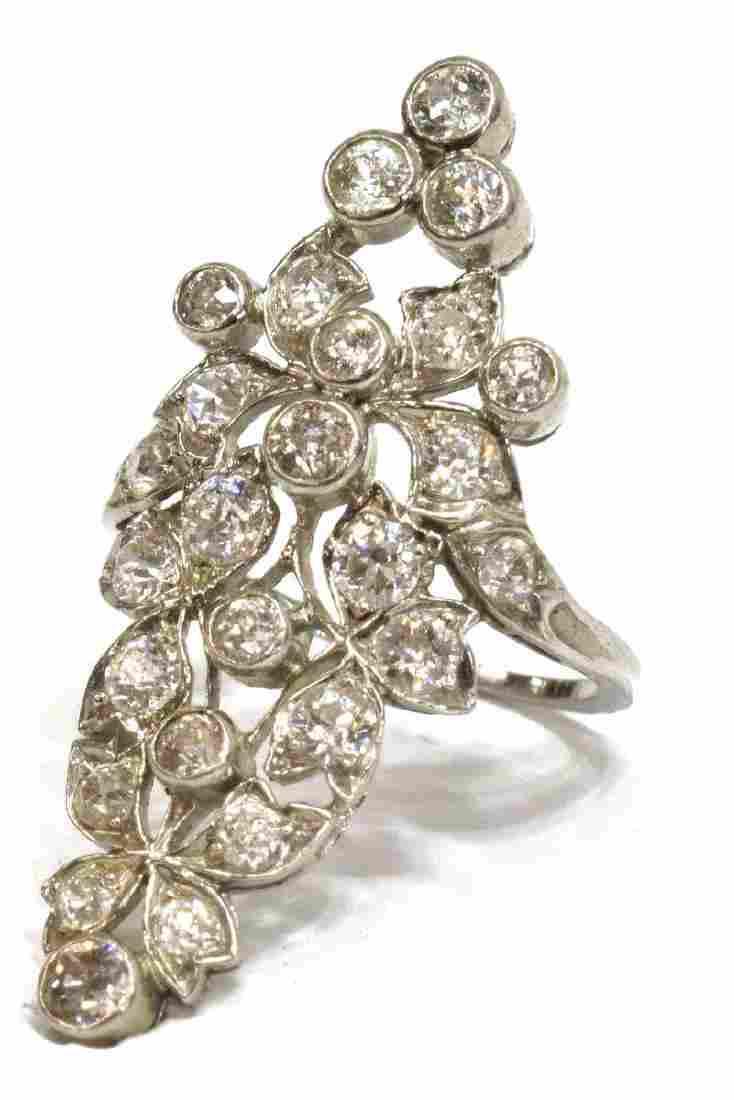ESATATE PLATINAUM & MULTI- DIAMOND LADIES RING