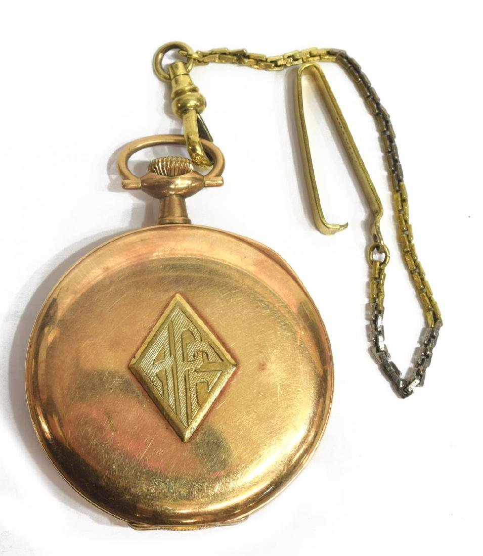 E. HOWARD ENGRAVED PRESENATION POCKET WATCH