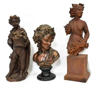 3 CAST COMPOSITE FIGURES OF YOUNG WOMEN CHILD