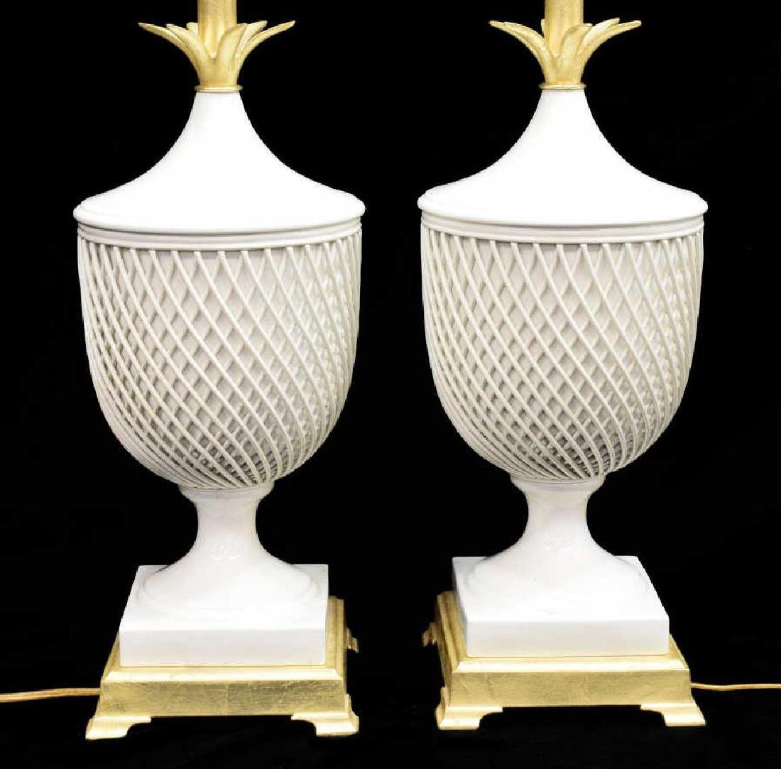 (2) FREDERICK COOPER PORCELAIN URN TABLE LAMPS