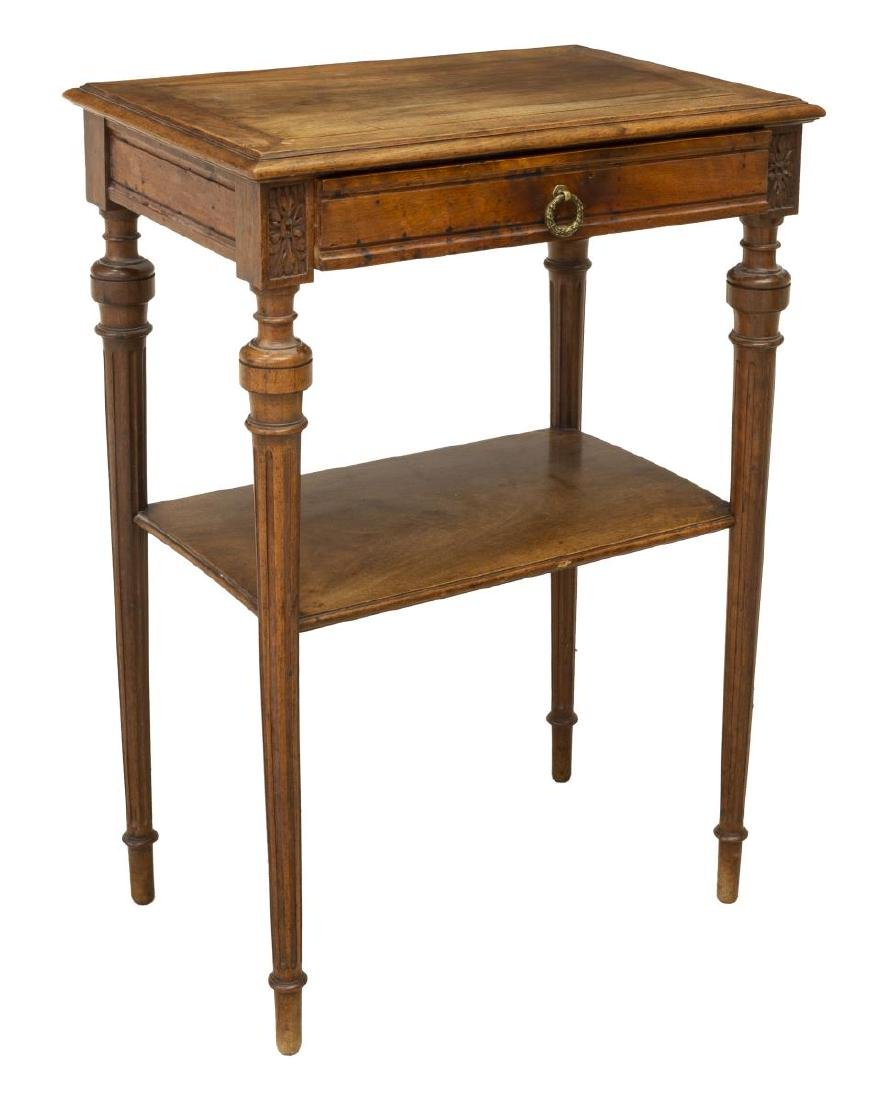 FRENCH LOUIS XVI STYLE MAHOGANY SIDE TABLE