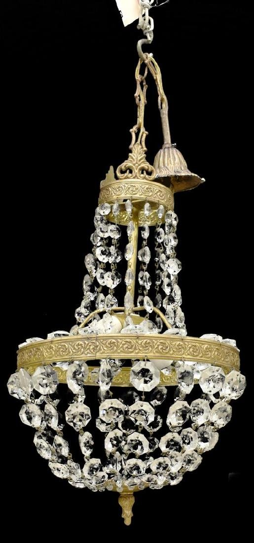 CONTINENTAL EMPIRE STYLE TWO-LIGHT CHANDELIER