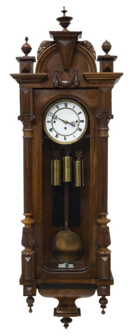 VIENNA REGULATOR TRIPLE WEIGHT WALL CLOCK
