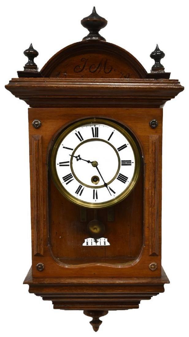 REGULATOR TIME ONLY WALL CLOCK, 1870