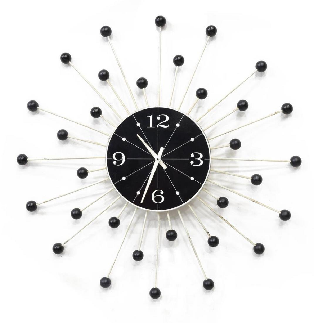 . SEARS MID CENTURY MODERN WALL CLOCK  STYLE OF NELSON