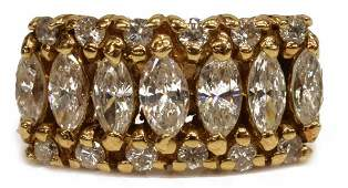 ESTATE 14KT YELLOW GOLD 175CTTW DIAMOND RING