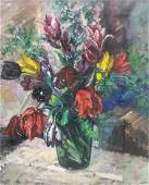 FRENCH SCHOOL STILL LIFE PAINTING SIGNED