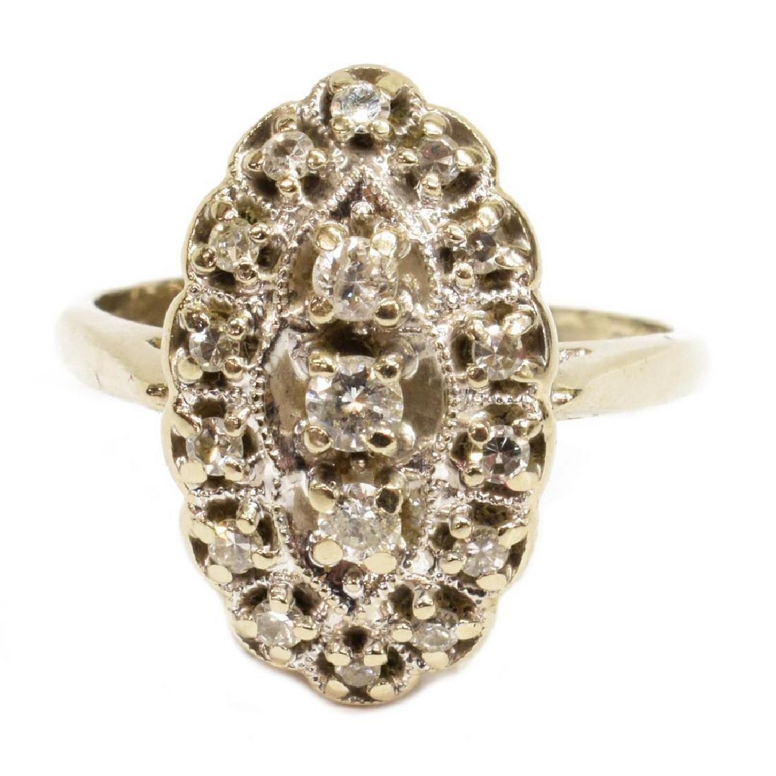 ESTATE 14KT WHITE GOLD 0.30CTTW DIAMOND RING