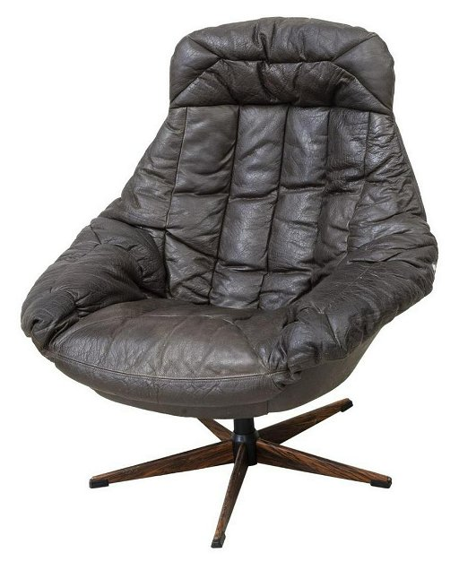Fabulous Danish Mid Century Modern Leather Swivel Armchair Caraccident5 Cool Chair Designs And Ideas Caraccident5Info