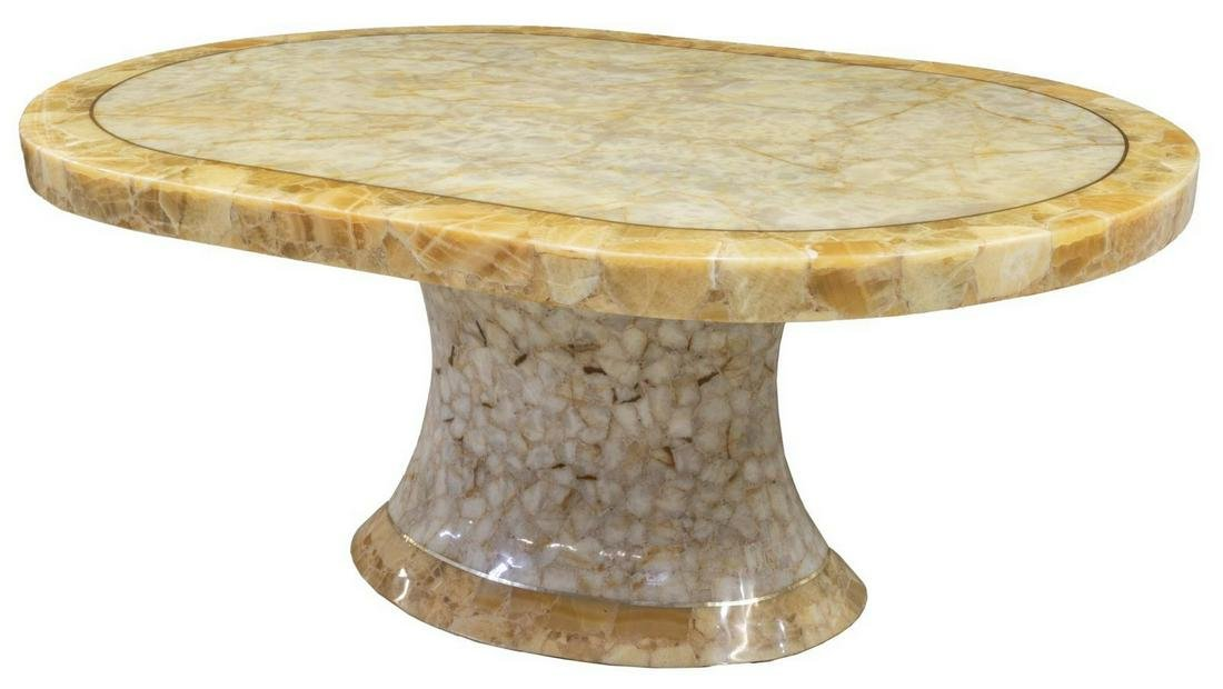 MODERNIST MULLERS ONYX TILED CENTER TABLE
