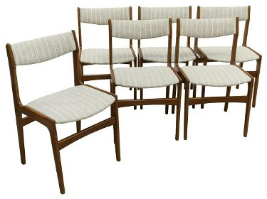 Incredible 6 Danish Mid Century Modern Teak Dining Chairs Bralicious Painted Fabric Chair Ideas Braliciousco