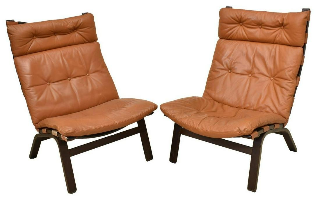 (2) DANISH MID-CENTURY MODERN CHAIRS