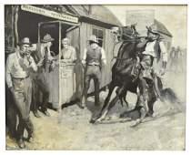 GAYLE PORTER HOSKINS 18871962 WESTERN PAINTING