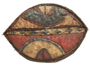 AFRICAN COWHIDE SHIELD, LIKELY ZULU - May 19, 2019 | Austin Auction