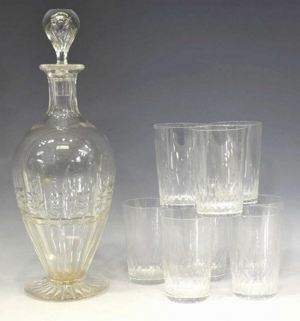 (9) BACCARAT 'DEAUVILLE' CRYSTAL TUMBLERS IN BOX