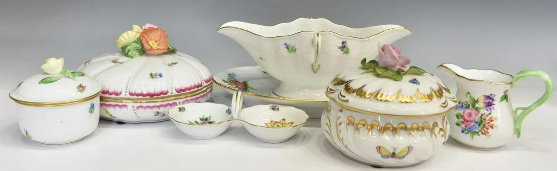 (6) COLLECTION OF HEREND PORCELAIN TABLEWARE