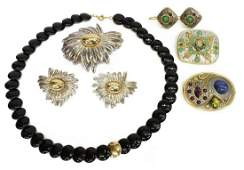 LOT ESTATE GOLD  STERLING JEWELRY GROUP