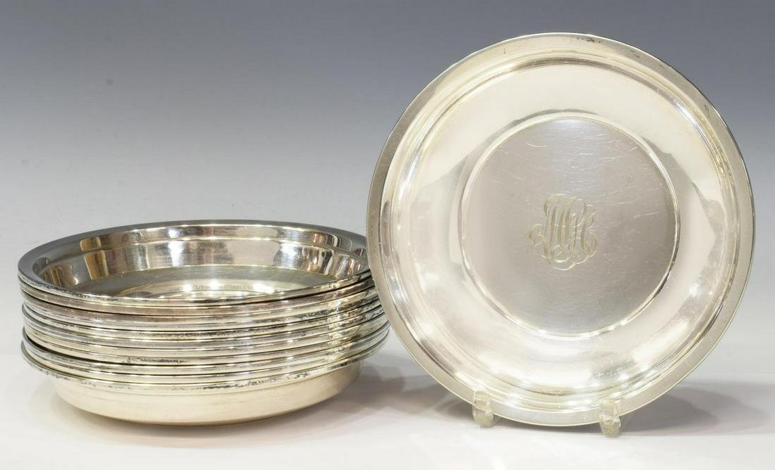 (12) WHITING MFG. CO. STERLING SILVER BOWLS
