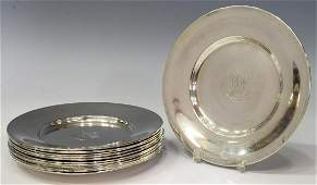 (12) REED & BARTON STERLING SILVER SMALL PLATES