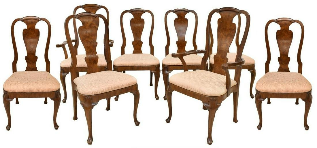 (8) HENREDON QUEEN ANNE STYLE DINING CHAIRS
