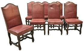 (8) FRENCH LOUIS XIV STYLE DINING SIDE CHAIRS