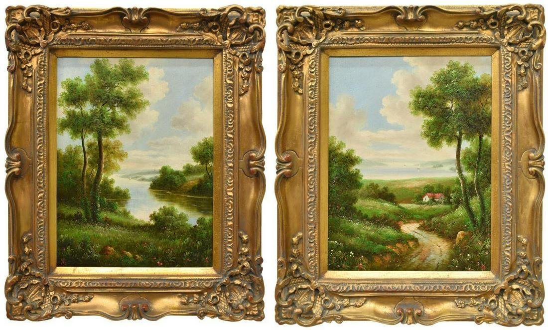 (2) FRAMED LANDSCAPE PAINTINGS, CIROCCO