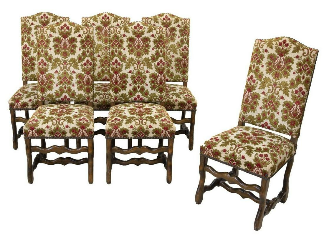 (6) FRENCH LOUIS XIV STYLE DINING CHAIRS