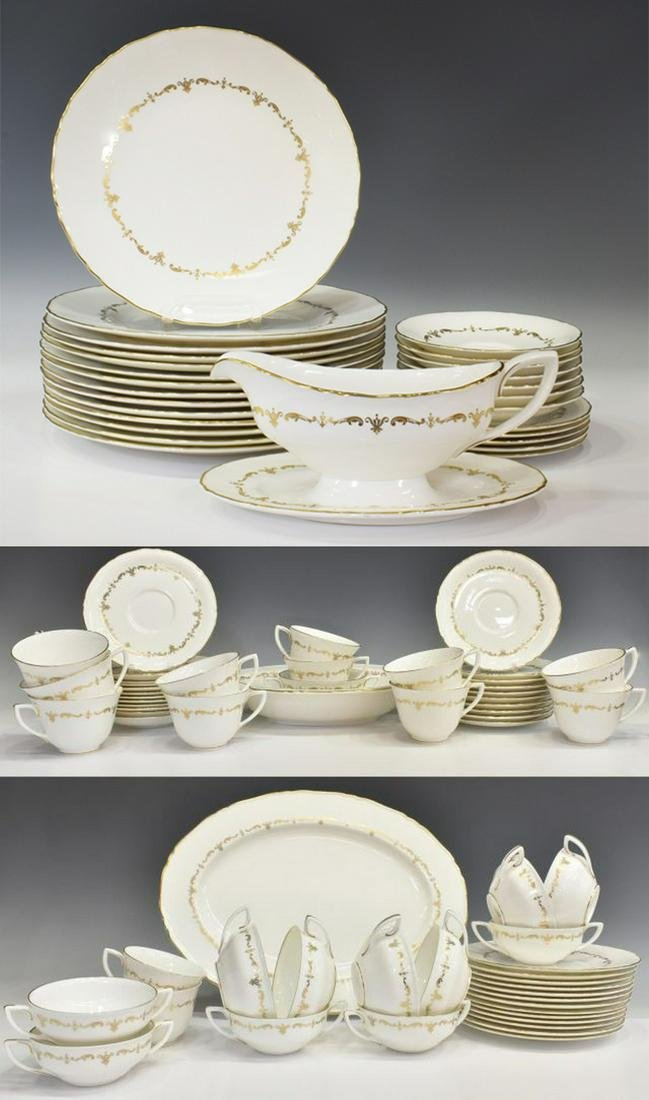 89) ROYAL WORCESTER GOLD CHANTILLY PARTIAL SERVICE
