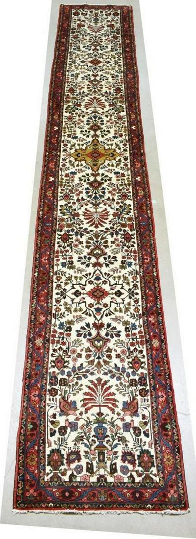 HAND-TIED PERSIAN HAMADAN FLOOR RUNNER, 17