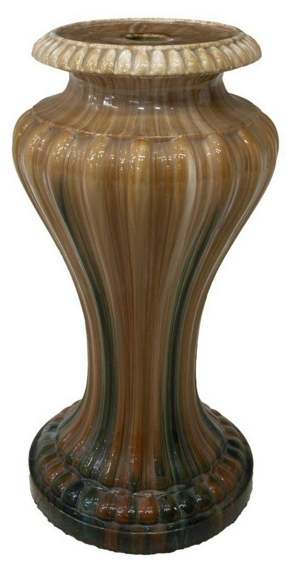 FRENCH VALLAURIS CERAMIC JARDINIERE STAND