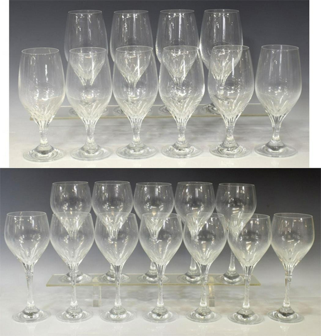 (22) CONTEMPORARY CUT CRYSTAL STEMWARE GROUP