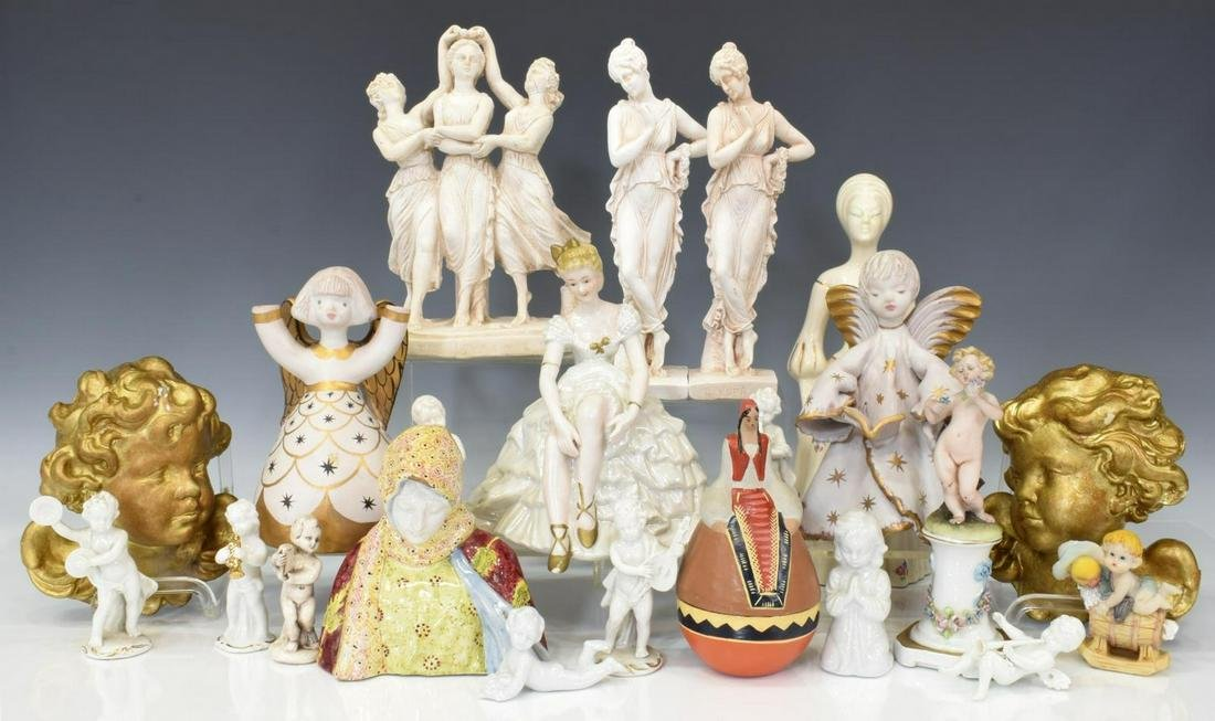 (22) CONTINENTAL CERAMIC & OTHER FIGURES
