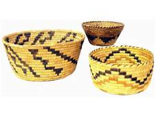 62: GROUP OF PAPAGO INDIAN BASKETRY