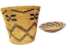 70: GROUP OF PAPAGO INDIAN BASKETRY GEOMETRIC PATTERNS