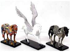 100 LOT TRAIL OF PAINTED PONIES SCULPTURES LANA YORK