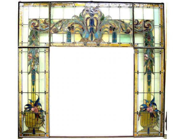 240: MONUMENTAL VICTORIAN STAINED LEADED GLASS WINDOWS