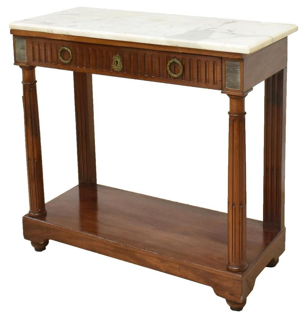 FRENCH LOUIS XVI STYLE MARBLE-TOP SERVER
