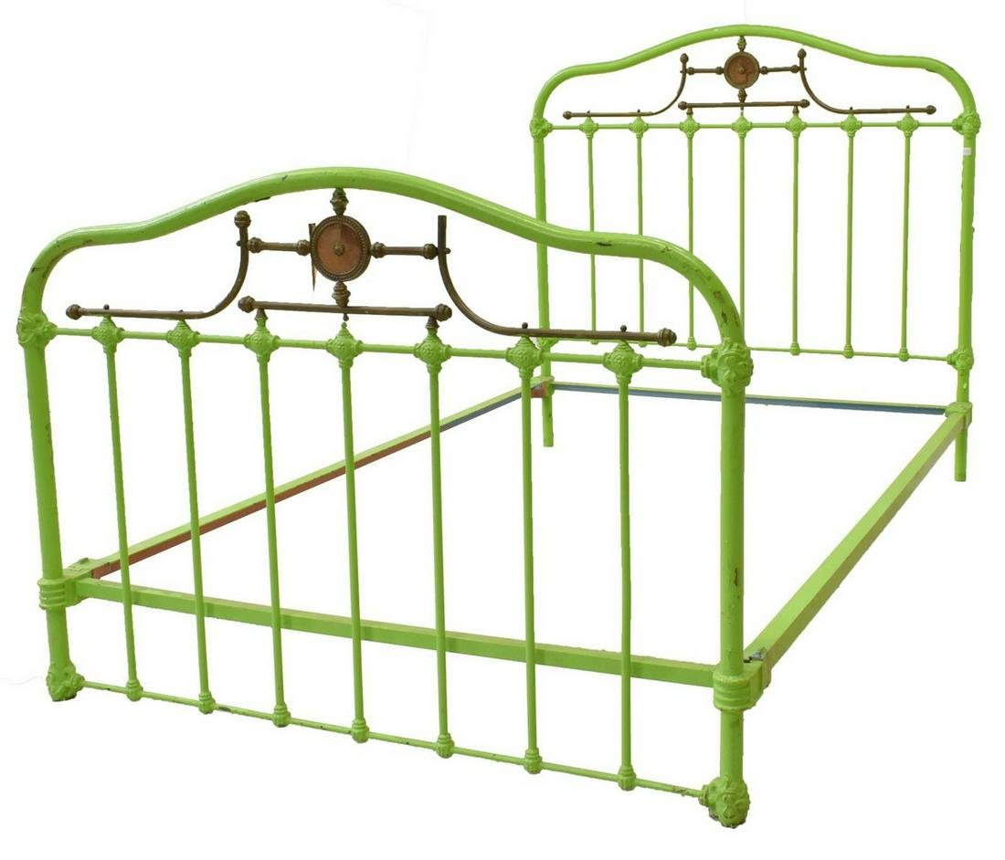 FRENCH PAINTED IRON BED