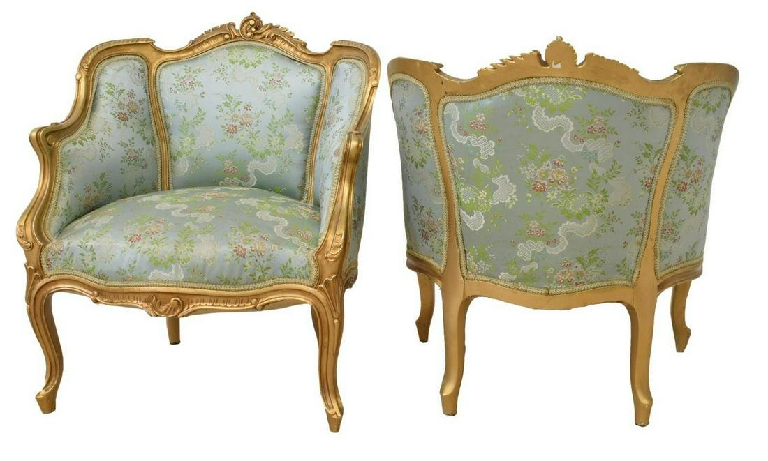(PR) FRENCH LOUIS XV STYLE BERGERES ARMCHAIRS