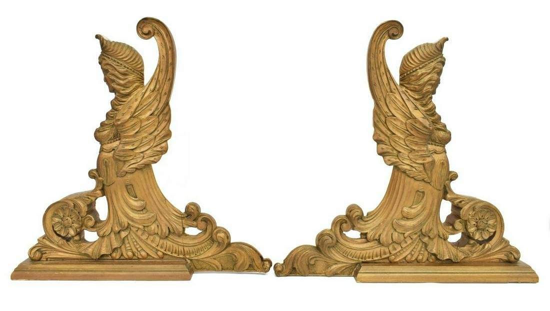 (2) CONTINENTAL GILTWOOD ARCHITECTURAL ELEMENTS