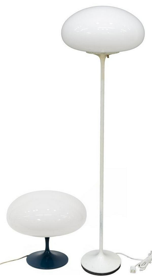 (2) MID-CENTURY 'STEMLITE' MUSHROOM TABLE LAMPS