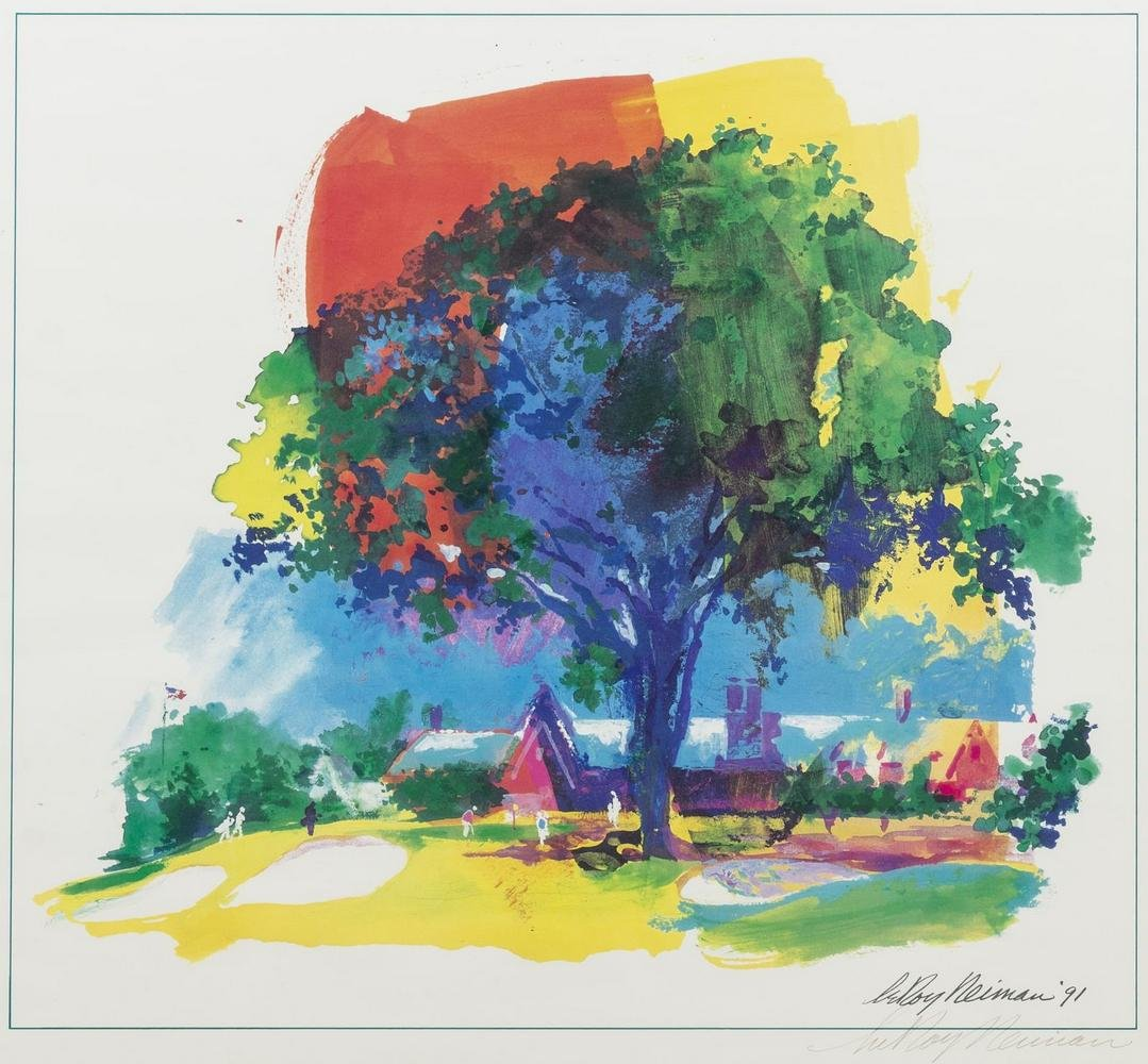 LEROY NEIMAN (1921-2012) FRAMED PRINT 'GREAT ELM'